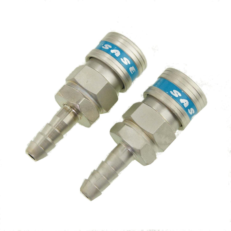 Air Quick Coupler Connector Hose Tail End 2PCS