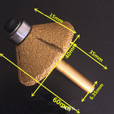 "141555 Diamond Router Bit 1/4"" 46# Conical 90Deg"