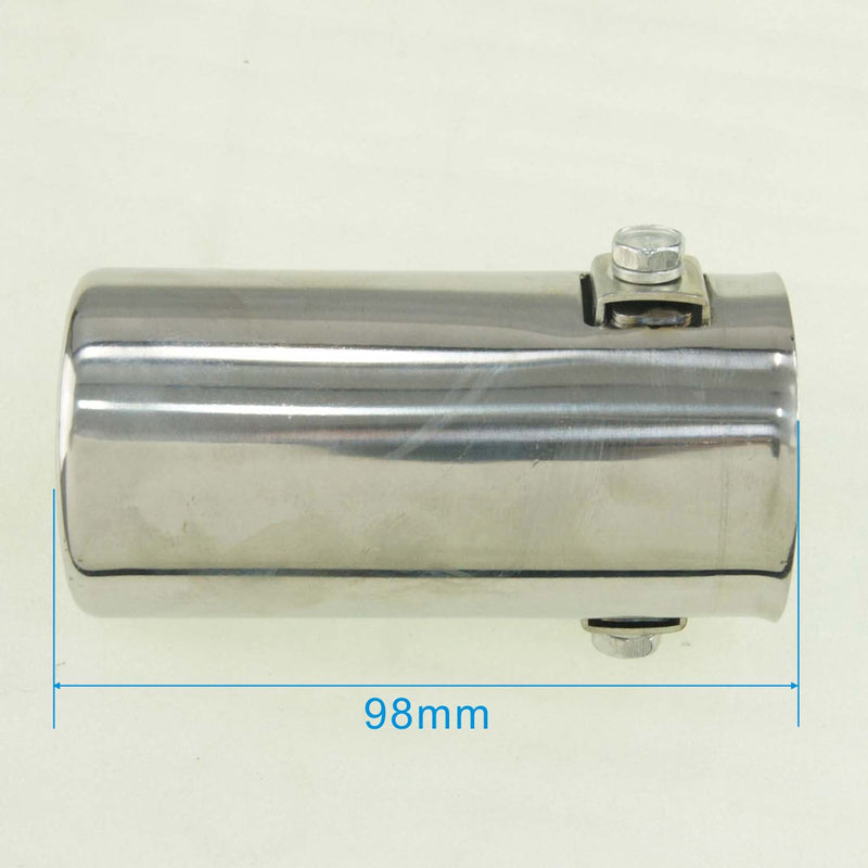 Stainless Steel Car Exhaust Muffler Tip Pipe Tail 49x98mm