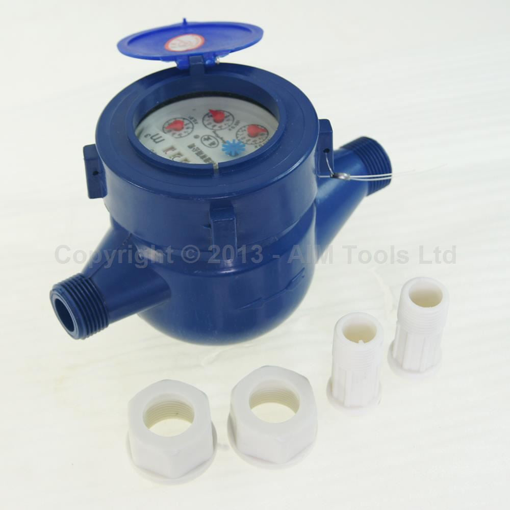 15180515 Plastic Water Meter Counter 15mm Wet Dial