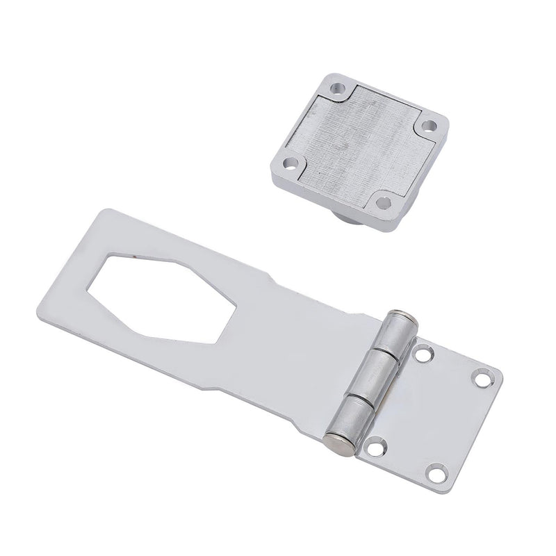 "Hasp and Staple Gate Cupboard Chrome 4"" 2PCs"