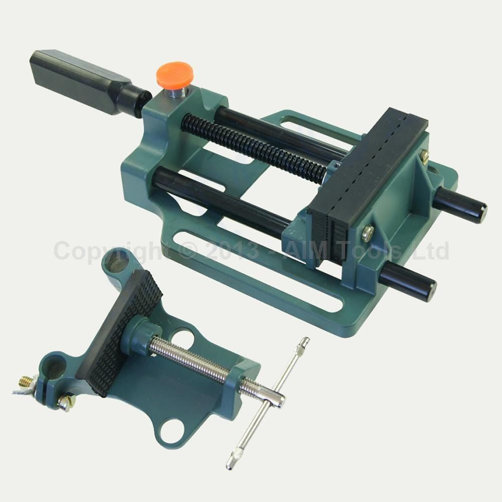 402304 quick release drill press vice with clamp jaw width 100mm