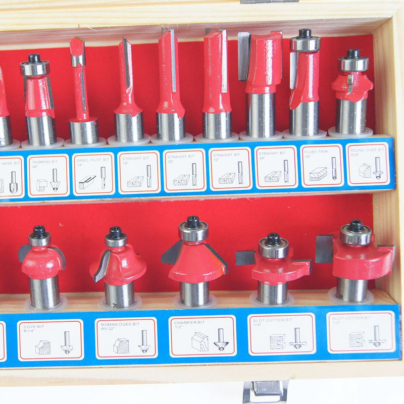 Router bit set 24PCs 1/2""