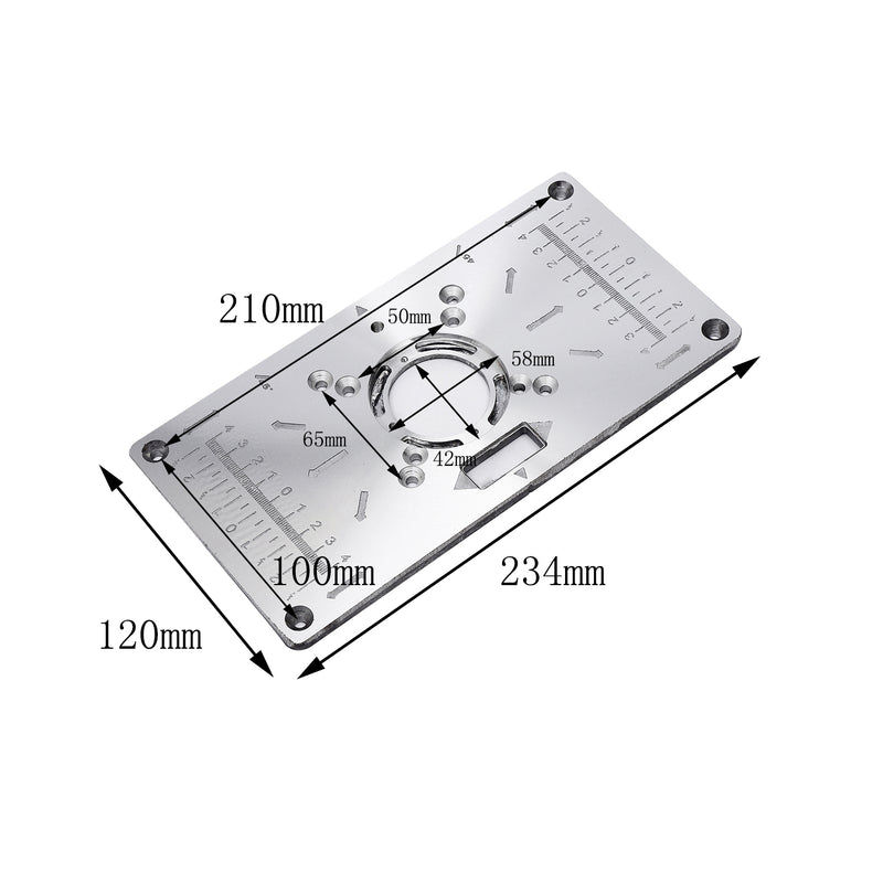 Aluminium Router Trimmer Table Insert Plate For Katsu Trimmers