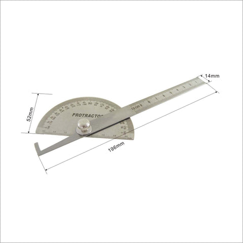 401145 Stainless Steel Welding Protractor 90-180 Deg Variation