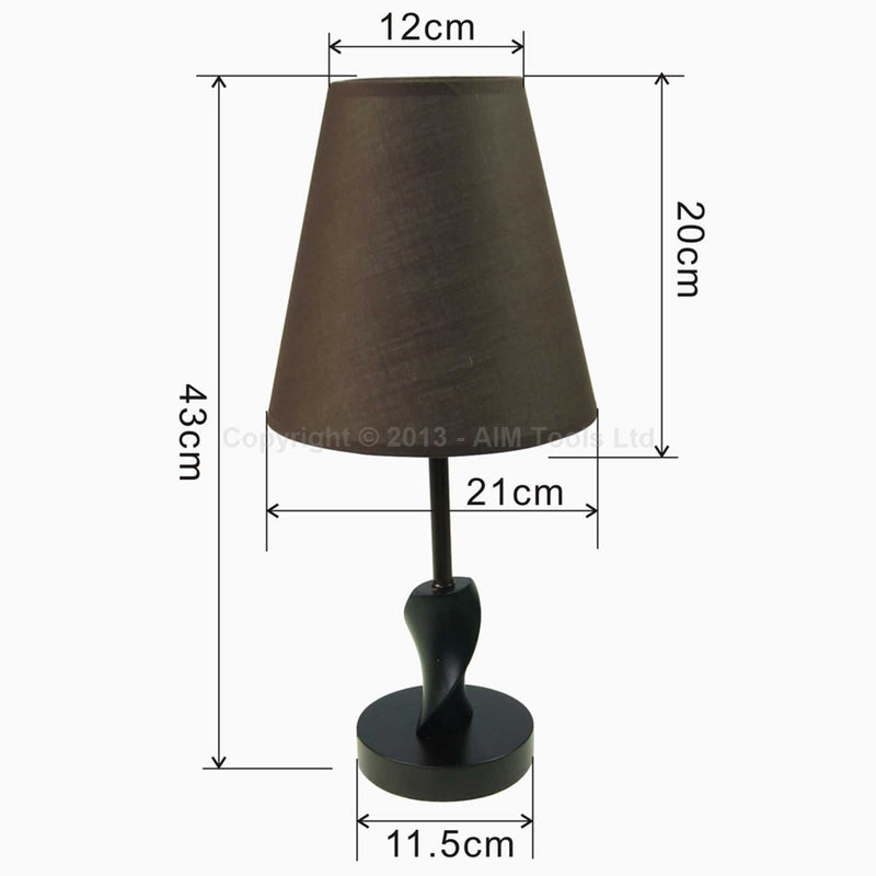 Modern Wood Bedside Table Lamp