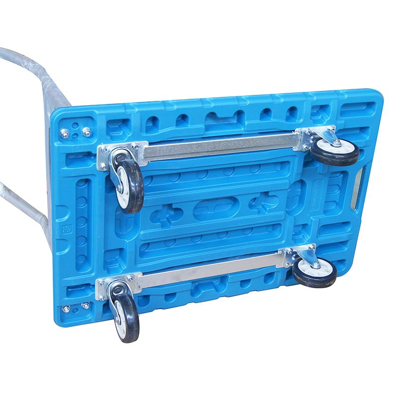 Heavy Duty Light Weight Fold Platform Plastic Trolley Cart Warehose 300Kg