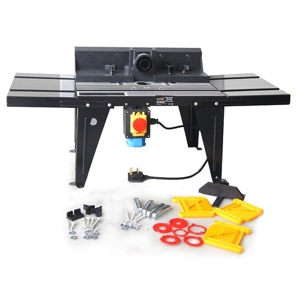 105470 Katsu Router Table With Protractor Bench Mounted