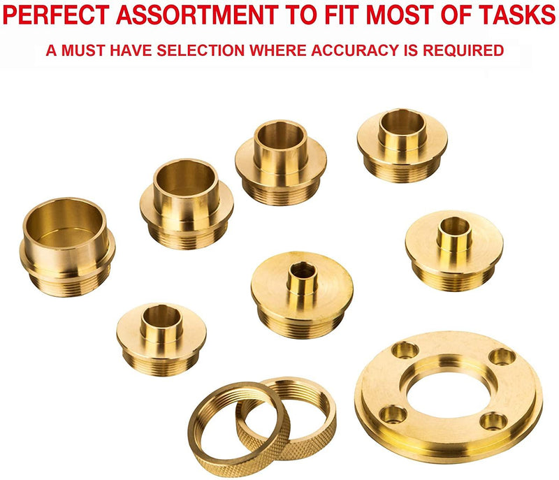 Brass Router Bushing Guide Set 10PCS Metric