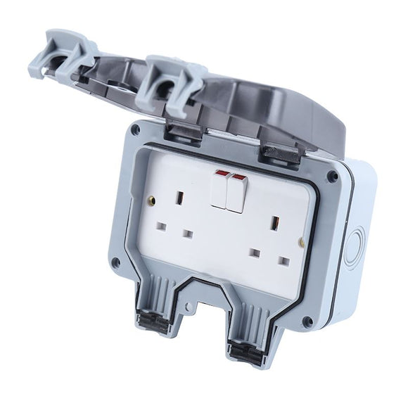 835712 Weatherproof Outdoor Switched Socket Double Pole Uk