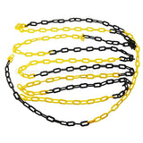 990938 Black & Yellow Barrier Plastic Chain