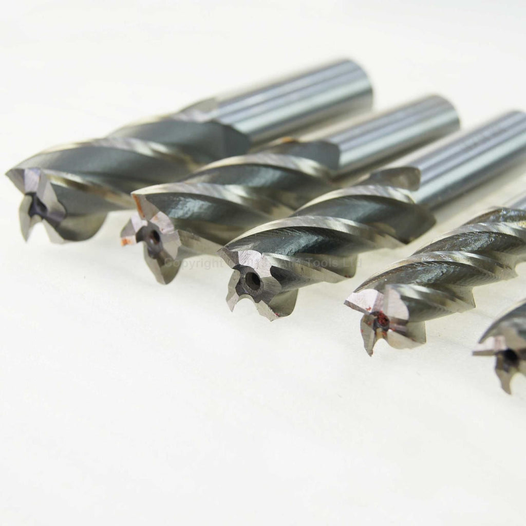 111920 4 Cutters HSS End Mill Drill 4mm To 20mm