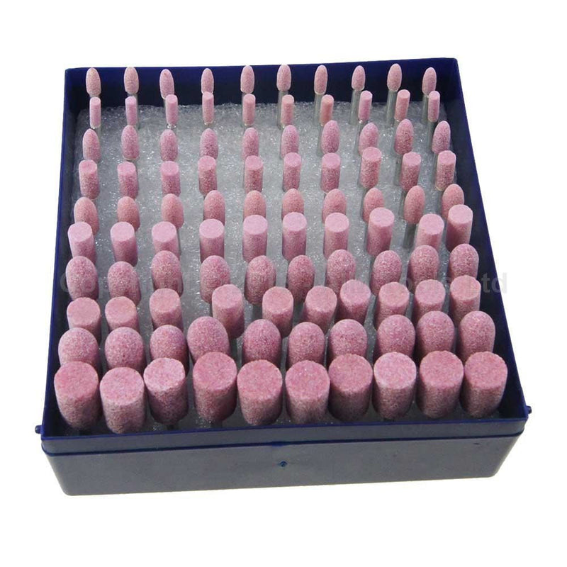 assorted grinding stones 3MM shank 100PCS