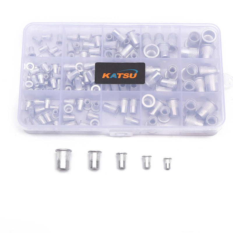 Aluminium Rivet Nut Assortment Kit 150PCS M3 - M8