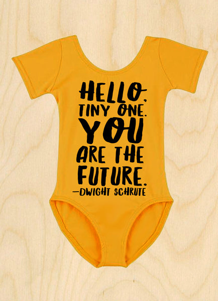 "'YOU ARE THE FUTURE"" LEOTARD/ 2 SLEEVE & 9 COLOR OPTIONS!"
