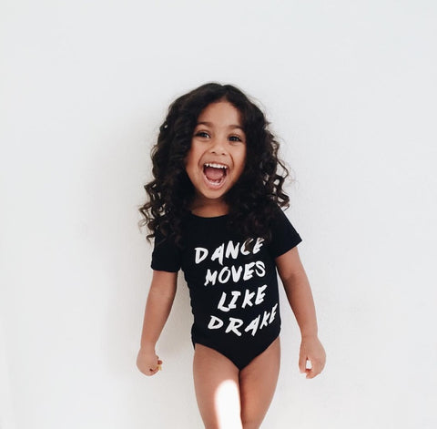 DRAKE, HOTLINE BLING LEOTARD, BLACK & WHITE 2/3-6/7 YR