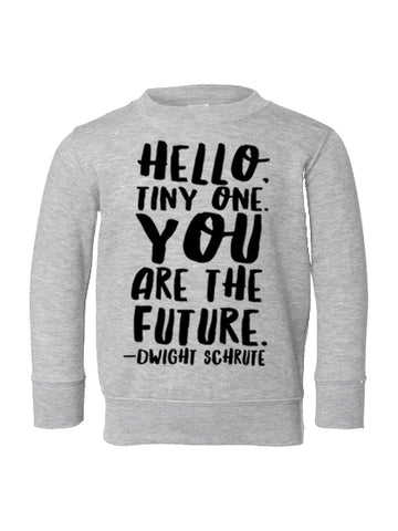 """YOU ARE THE FUTURE"" CREWNECK PULLOVER (2YR-6YR)"