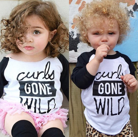 UNISEX CURLS GONE WILD BASEBALL TEE