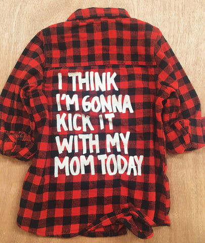 KICK IT PLAID BUTTON UP TOP (2YR-5YR)