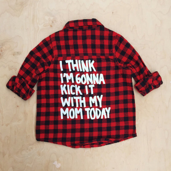 KICK IT PLAID BUTTON UP TOP (18MO-5YR)