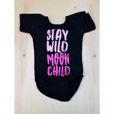 2YR-6/7YR  MOONCHILD LEOTARD (BLACK)