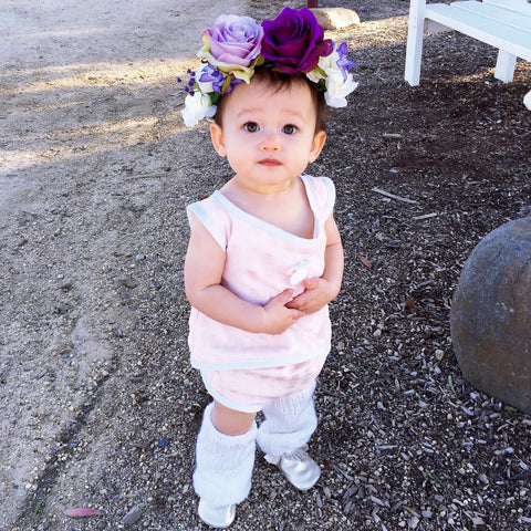Dark & Light Purple Flower crown (Toddler-adult) 4-6 week lead time