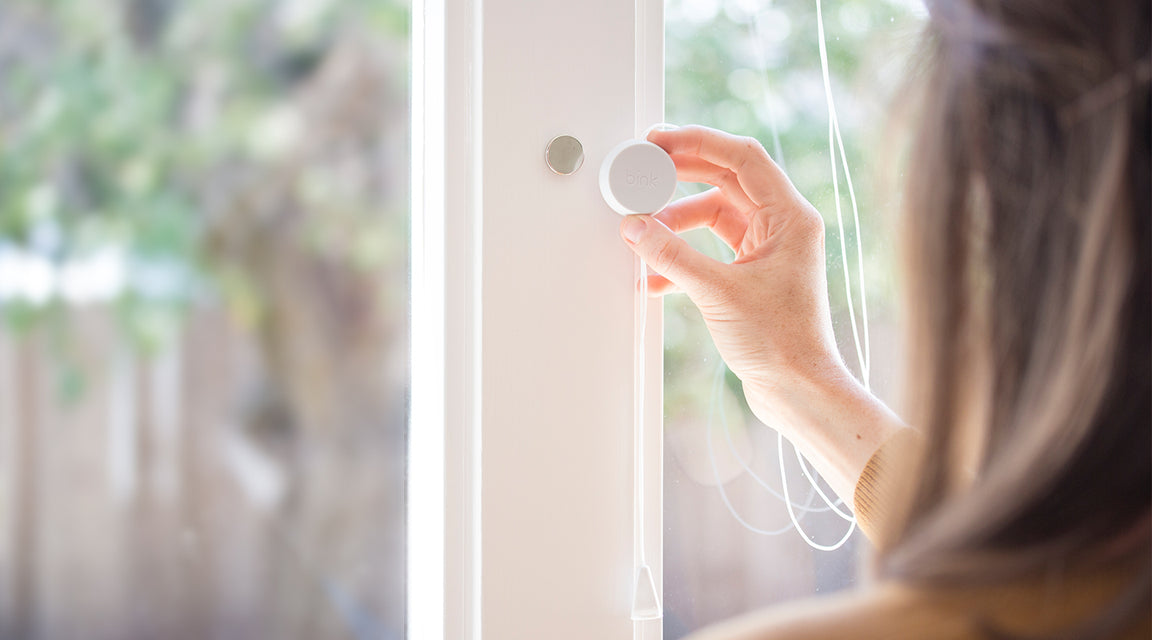 Up and Away is a magnetic blind cord safety device for your home. Magnetically stores cords out of harms reach. Does not interfere with functionality of blinds in anyway.