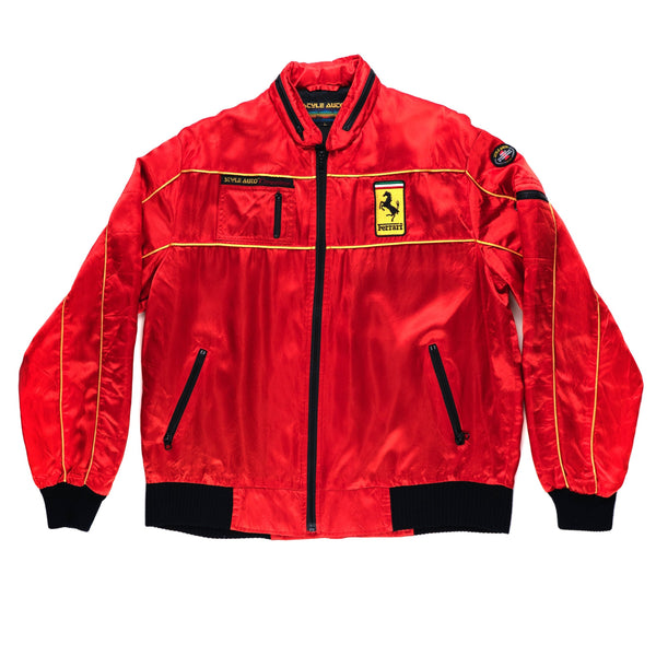 Style Auto Ferrari Red/Black Satin Jacket