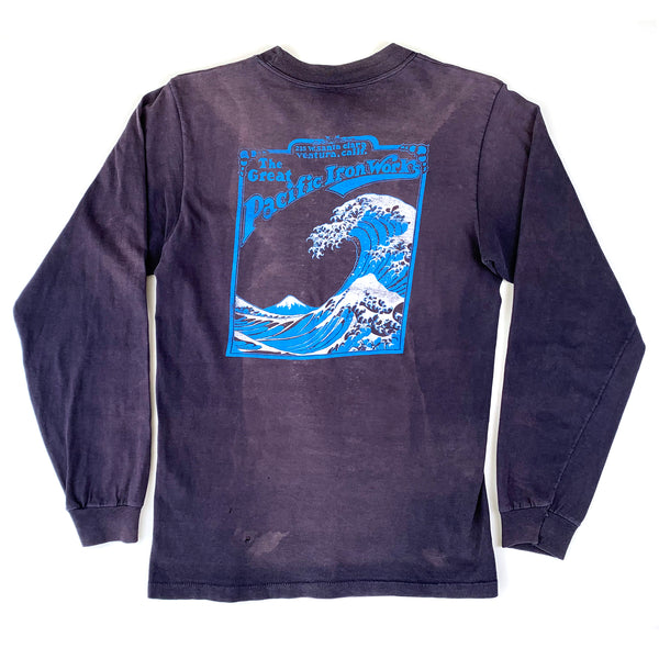 The Great Pacific Iron Works Blue L/S Shirt