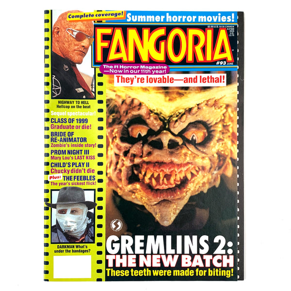 Fangoria Magazine #93 June 1990