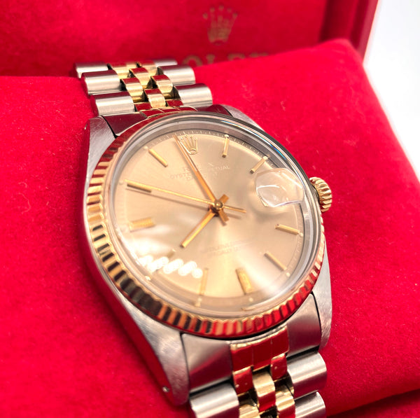 Rolex 36mm Stainless & 14K Gold Datejust Ref. 1601 (1970's)