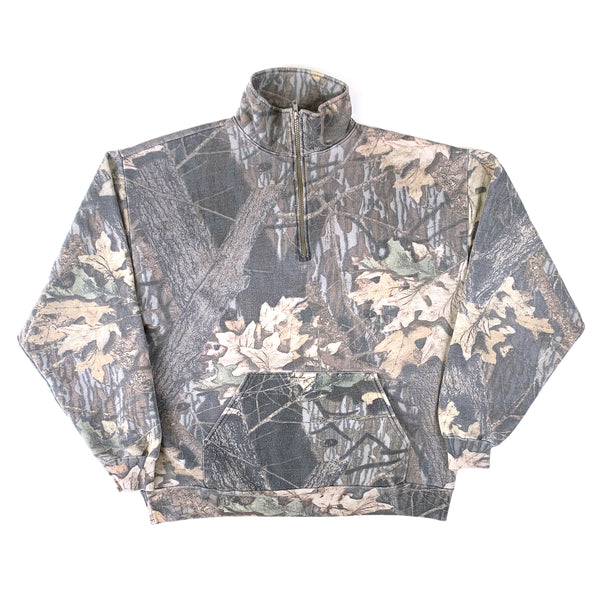 Jerzees Outdoors Wood Camo Quarter Zip Pull Over