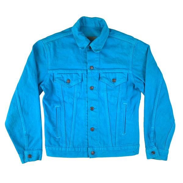 Levi's Overdyed Turquoise Blue Denim Jacket