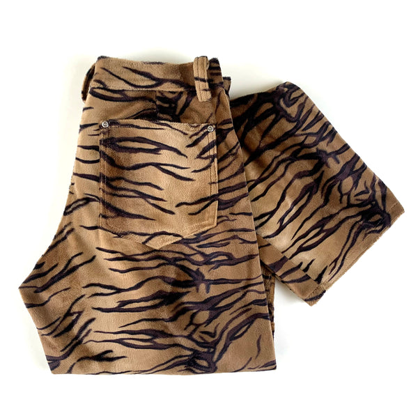 Studio XTC Tiger Print Furry Pants