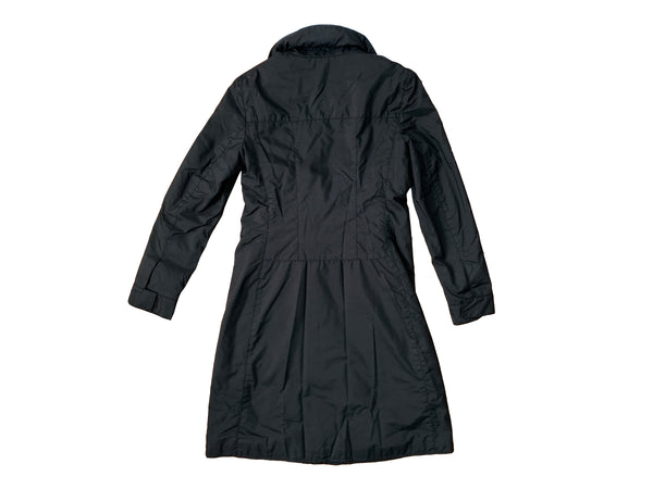 Miu Miu Black Tech Trench Coat