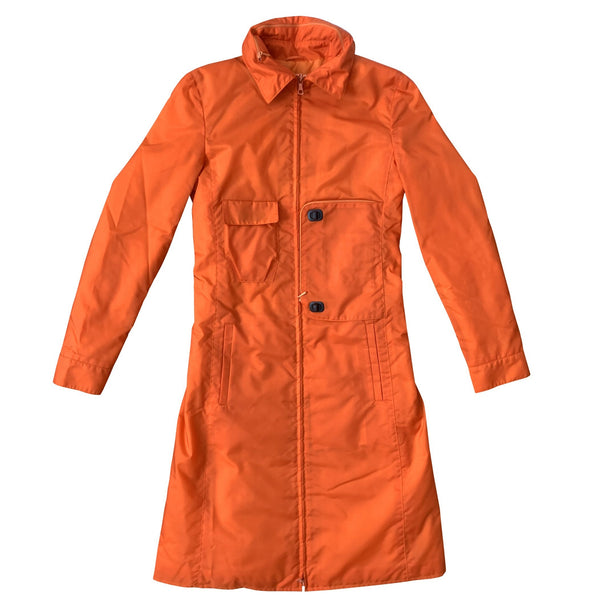 Miu Miu Orange Tech Trench Coat