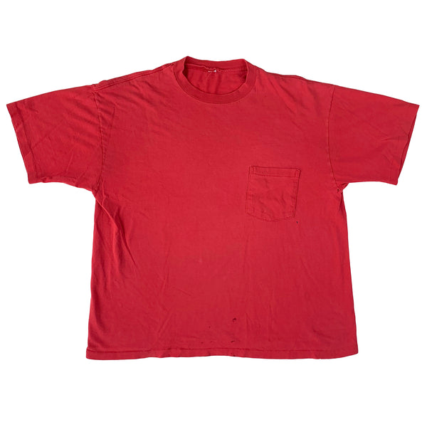 Blank Red Pocket T-Shirt