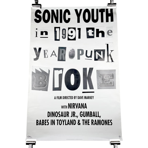 Sonic Youth 1991: The Year Punk Broke Poster