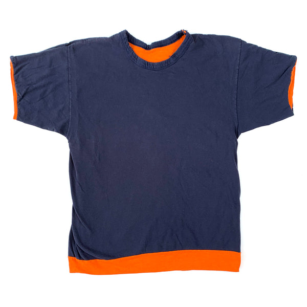 Blank Blue & Orange Reversible T-Shirt