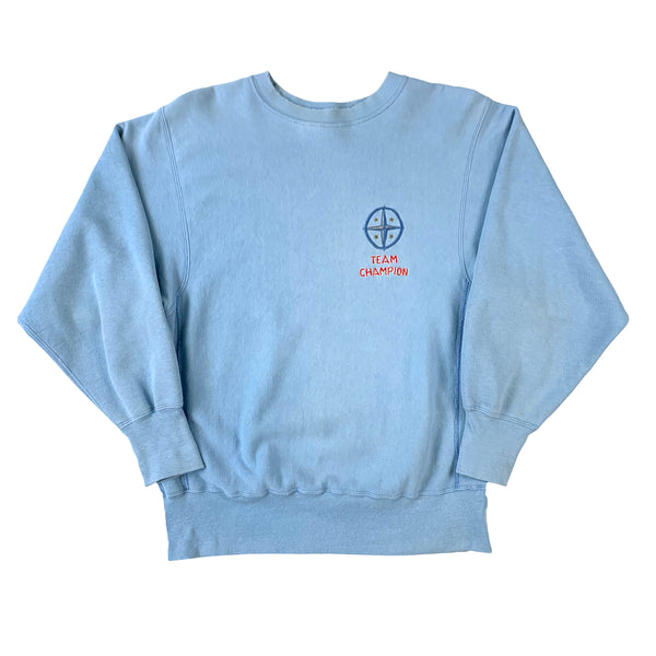 Champion Team Champion Embroidered Blue Sweatshirt