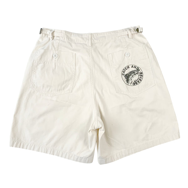 Polo Catch and Release White Shorts