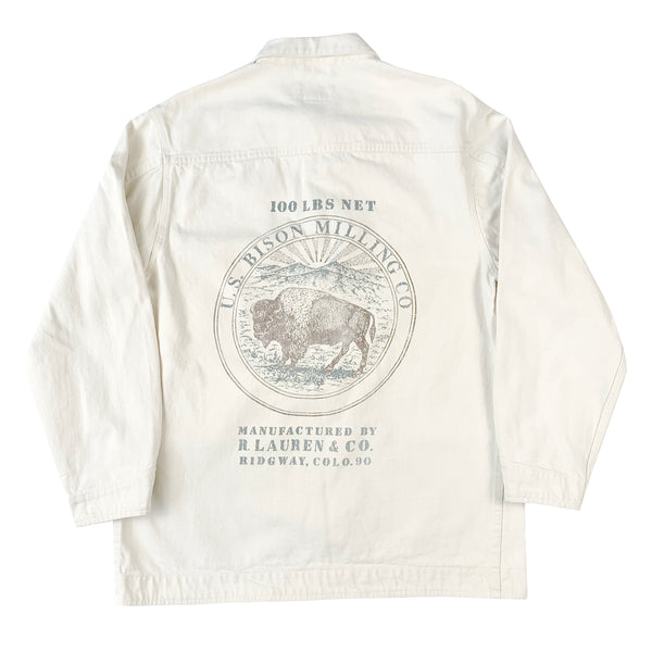 Ralph Lauren Country US Bison Milling Co White Jacket