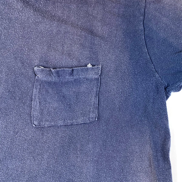 Faded Blue Square Pocket T-Shirt