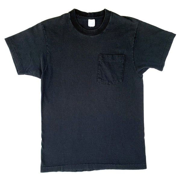 Blank Fruit of the Loom Black Pocket T-Shirt (Medium)