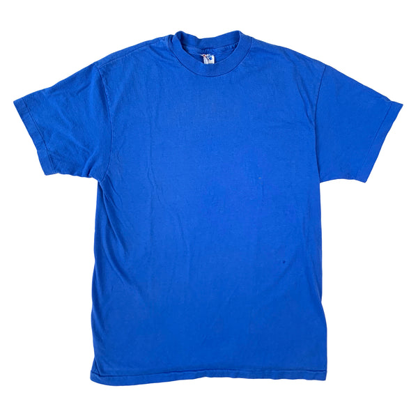 Blank Hanes Beefy-T Blue T-Shirt