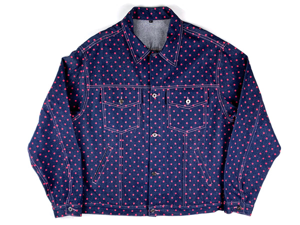 Misfits USA Polka Dot Denim Jacket