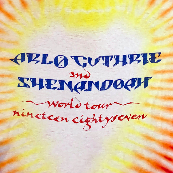 Arlo Guthrie and Shenandoah World Tour 1987 Tie Dye T-Shirt