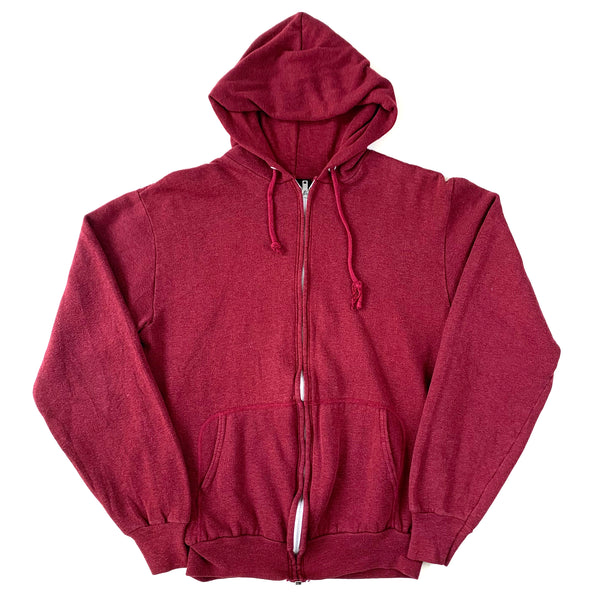 Blank Steinwurtzel Maroon Zip Up Hooded Sweatshirt