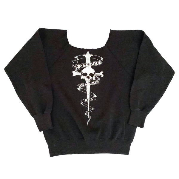 Lip Service Shop Logo Skull & Sword Sweatshirt