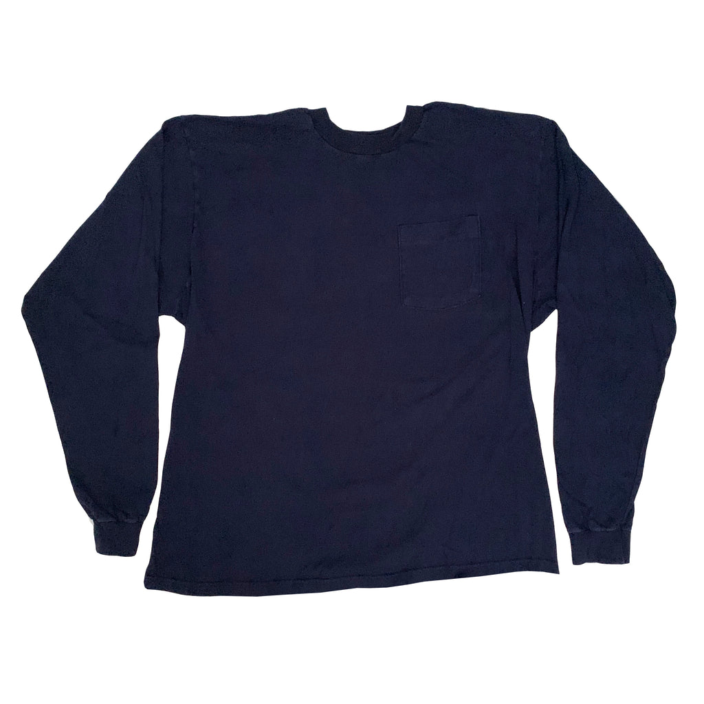 Blue Blank L/S Pocket Shirt